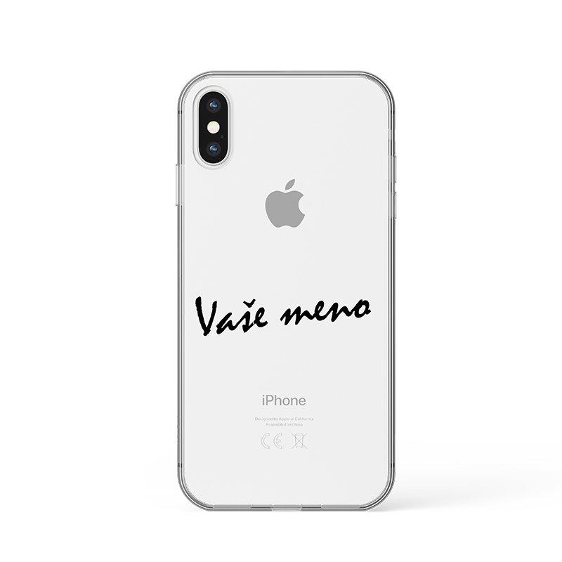 Vaše meno kryt na iPhone hnedý