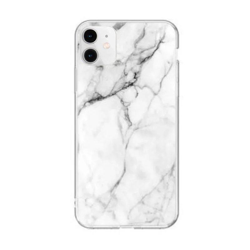 Silikónový kryt na iPhone 12 Mini White Marble