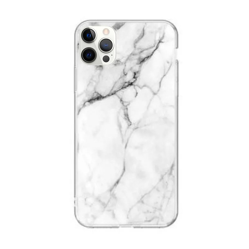 Silikónový kryt na iPhone 12 Pro Max White Marble