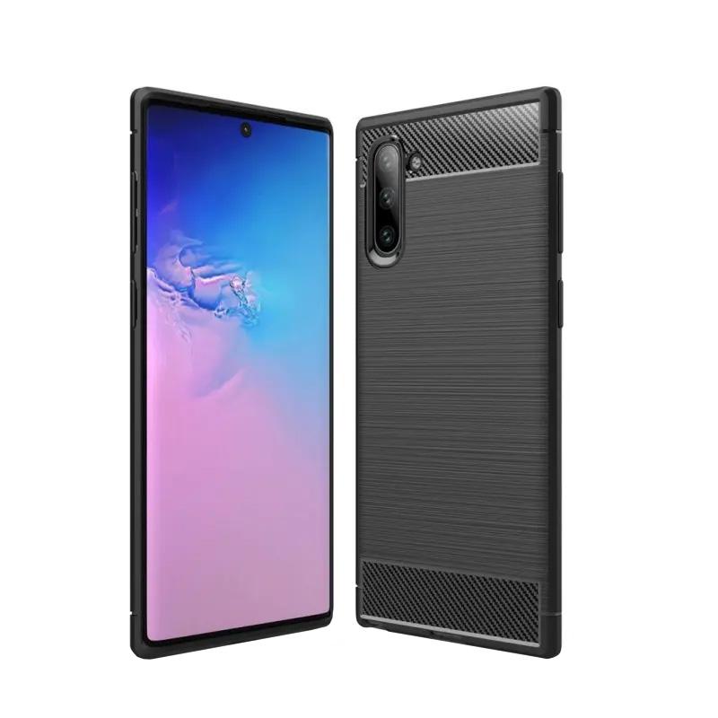Silikónový kryt na Samsung Galaxy Note 10 Carbon Black