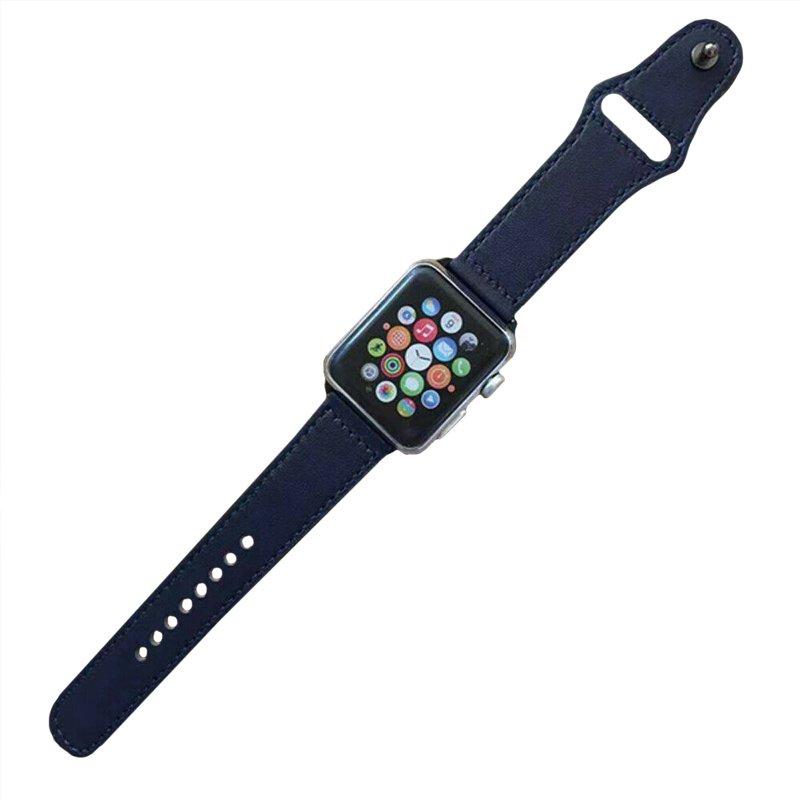 Remienok na Apple Watch 42mm/44mm kožený Blue