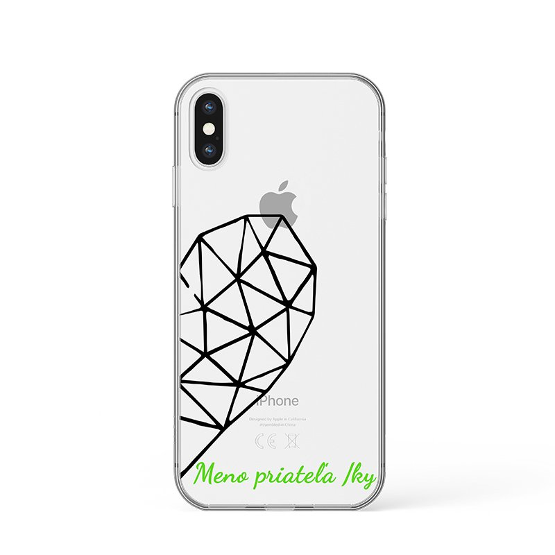 Kryt na iPhone Geometric Heart