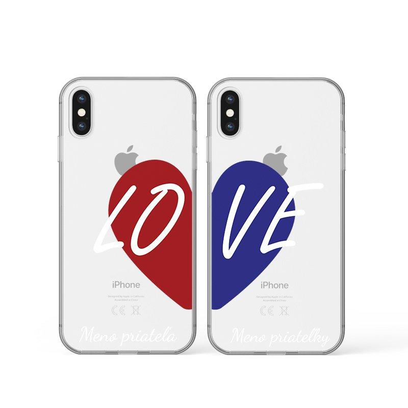 Kryt na iPhone Love s menom