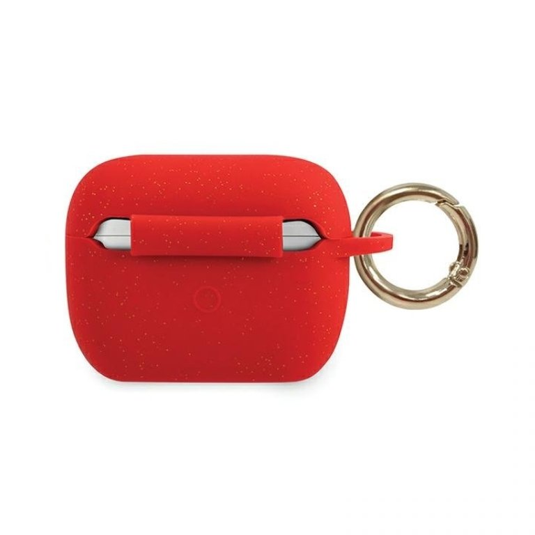 Guess obal na AirPods Pro silikónový červený