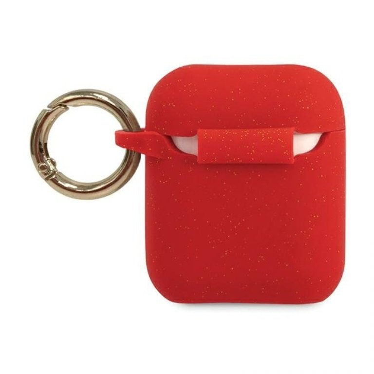 Guess obal na AirPods silikónový červený