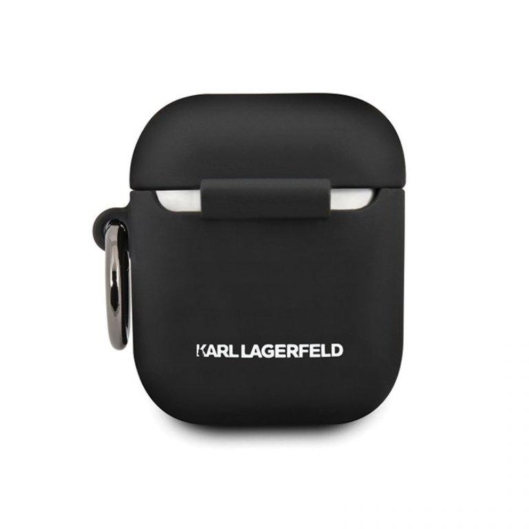 Karl Legerfeld obal na AirPods silikónový čierny