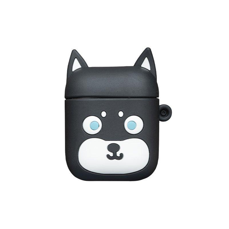 Obal na AirPods silikónový Čierna mačka
