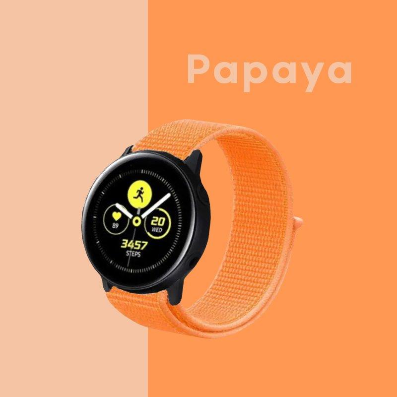 Remienok na Samsung Galaxy Watch látkový Papaya
