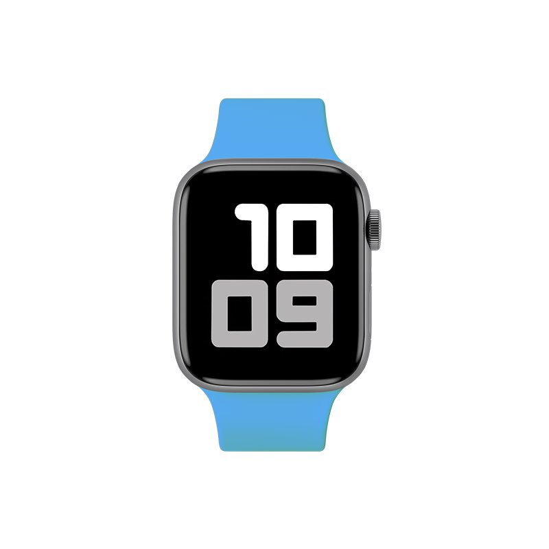 Remienok na Apple Watch 38mm/40mm M/L silikónový Light Blue