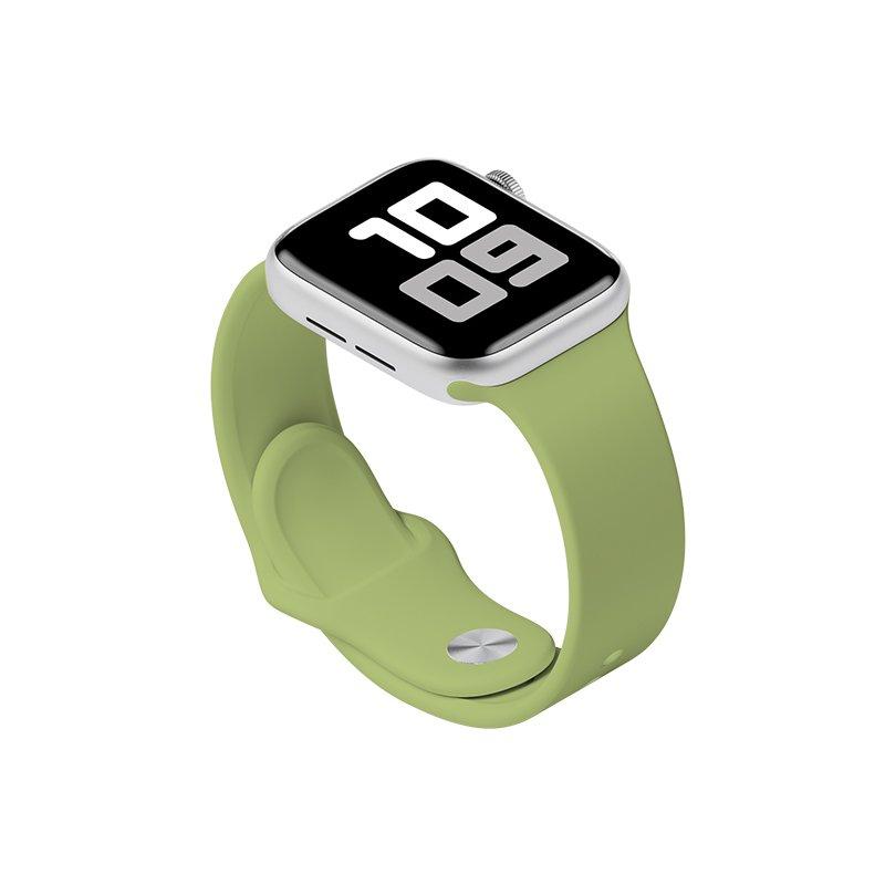 Remienok na Apple Watch 42mm/44mm M/L silikónový Pastelovo zelený