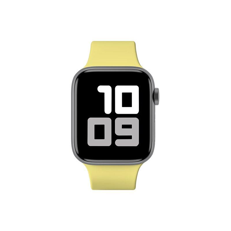 Remienok na Apple Watch 38mm/40mm S/M silikónový Pastelovo žltý