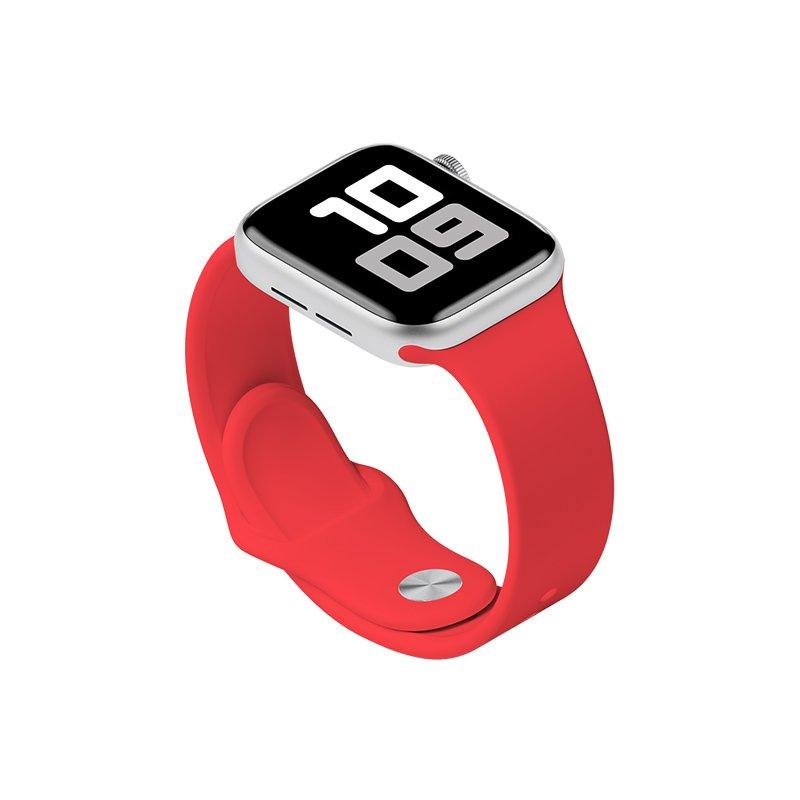 Remienok na Apple Watch 42mm/44mm S/M silikónový Red