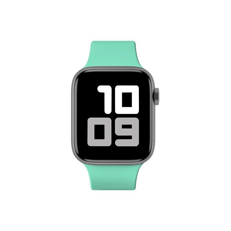 Remienok na Apple Watch 38mm/40mm S/M silikónový Tyrkysový