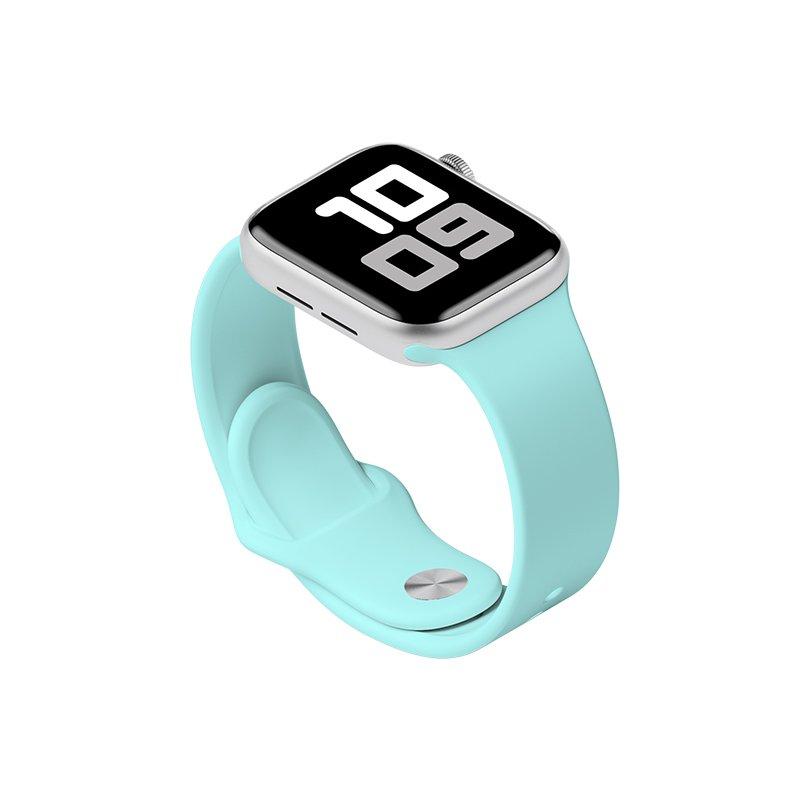 Remienok na Apple Watch 38mm/40mm S/M silikónový Light Cyan