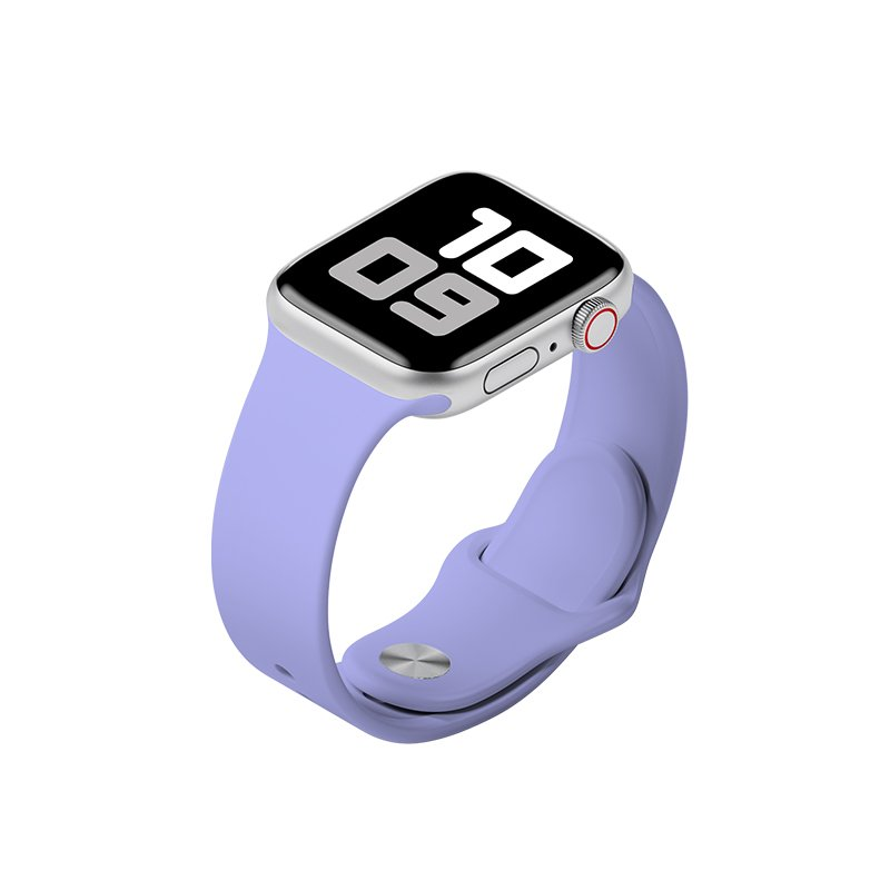 Remienok na Apple Watch 38mm/40mm M/L silikónový Levanduľový