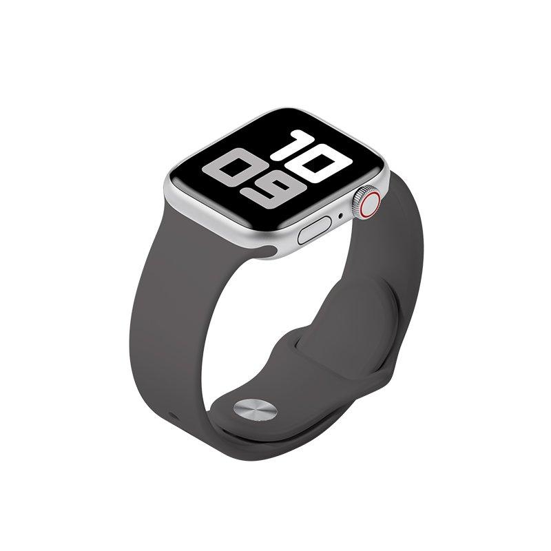 Remienok na Apple Watch 42mm/44mm S/M silikónový Tmavosivý