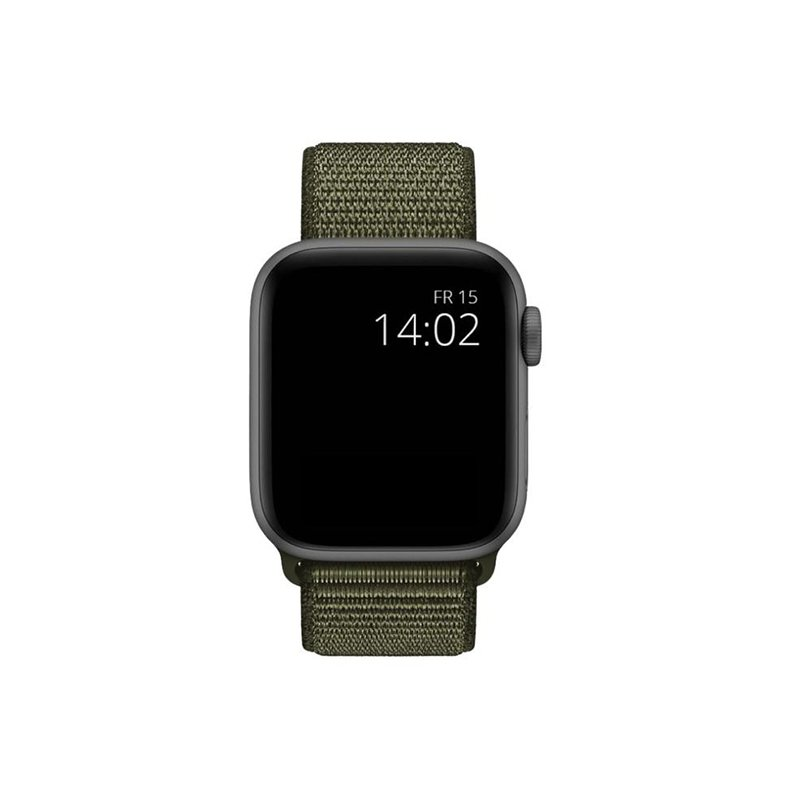 Remienok na Apple Watch 42mm/44mm látkový Dark Olive Green