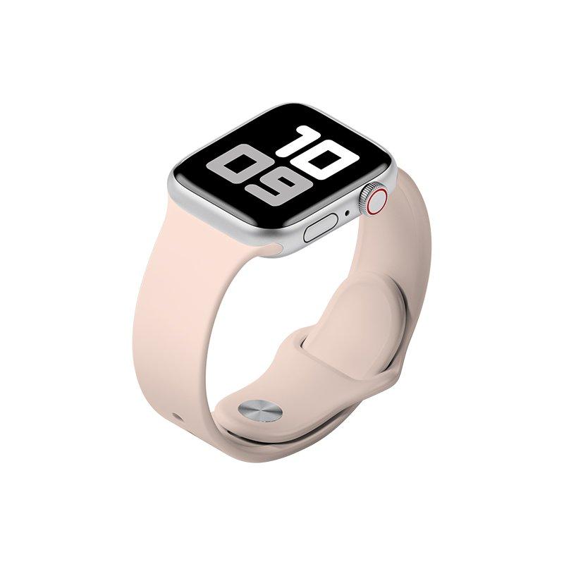 Remienok na Apple Watch 42mm/44mm S/M silikónový Krémový