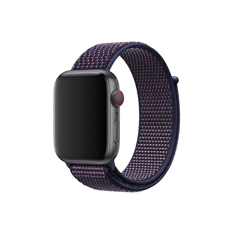 Remienok na Apple Watch 38mm/40mm látkový Indigo
