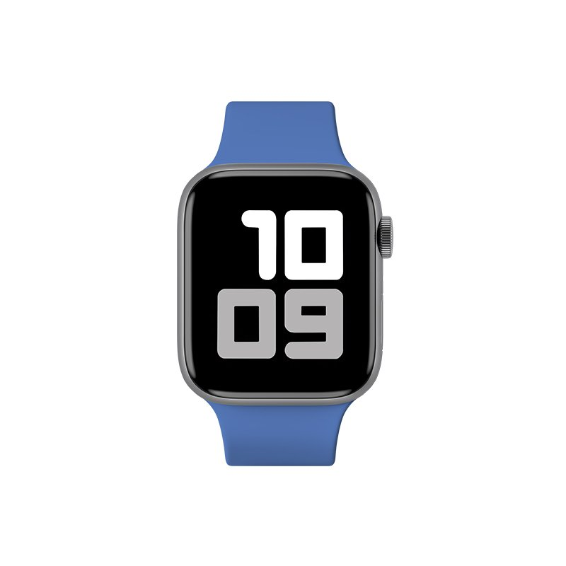 Remienok na Apple Watch 38mm/40mm M/L silikónový Blue