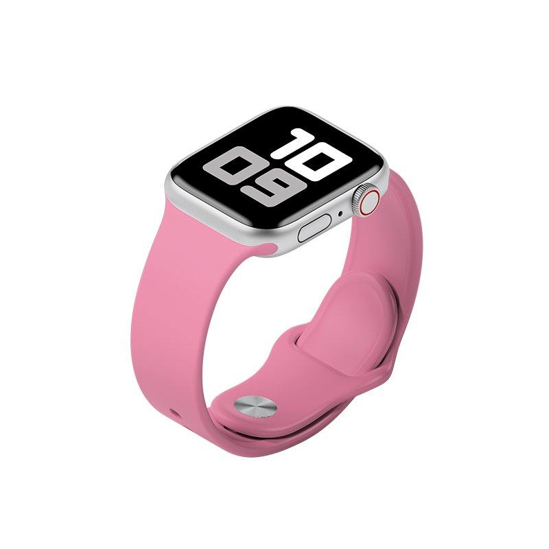 Remienok na Apple Watch 38mm/40mm M/L silikónový Ružový