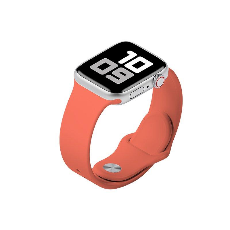 Remienok na Apple Watch 42mm/44mm M/L silikónový Červenooranžový