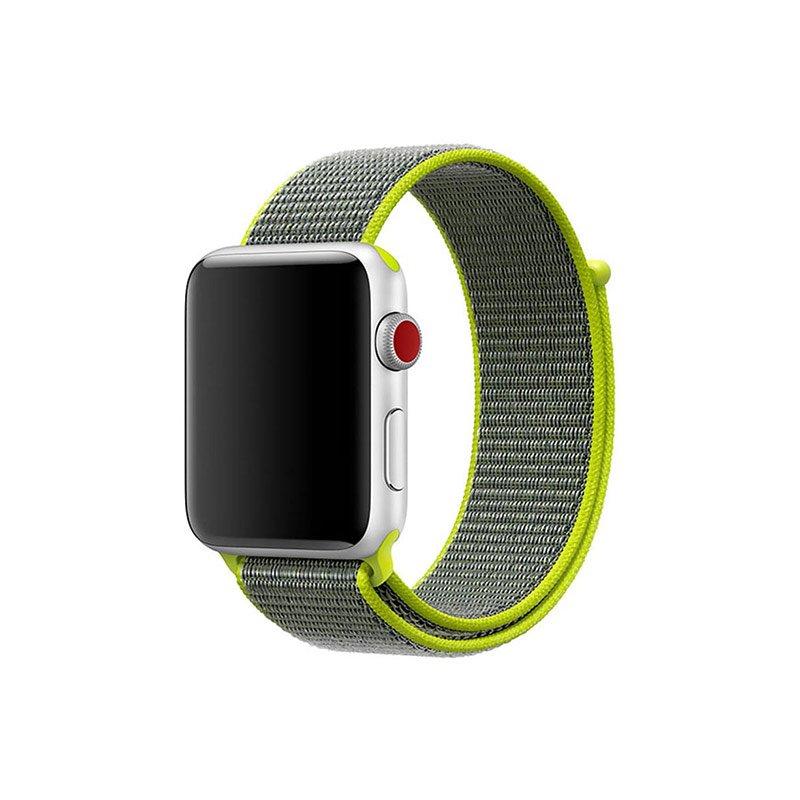 Remienok na Apple Watch 42mm/44mm látkový Flash Green