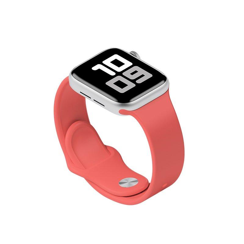 Remienok na Apple Watch 38mm/40mm S/M silikónový Lososovo oranžový