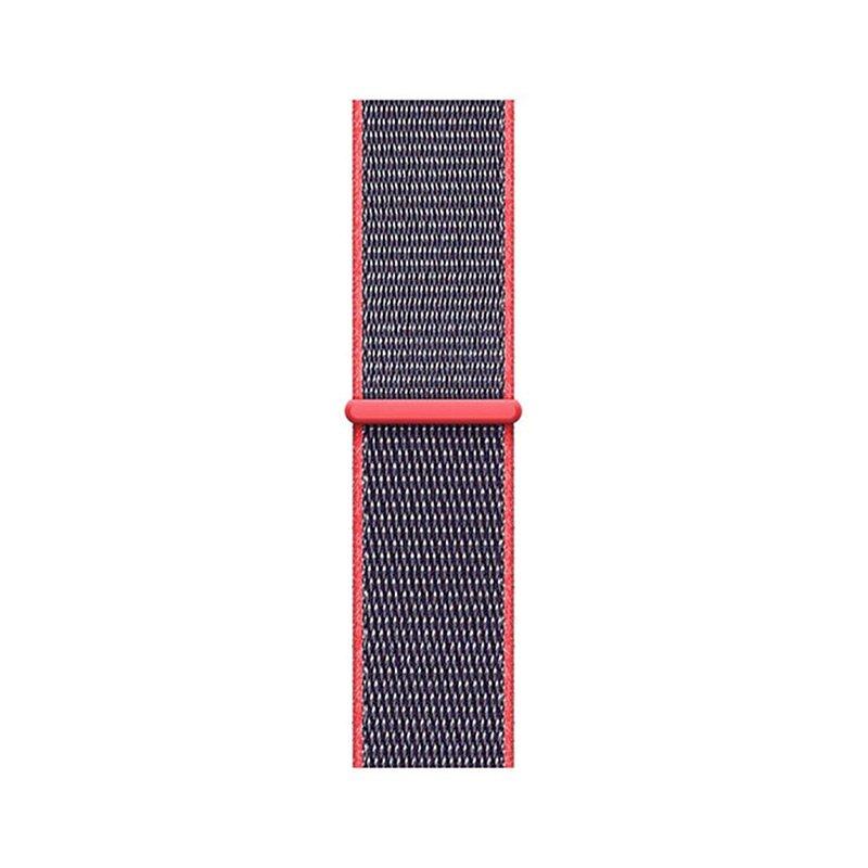 Remienok na Apple Watch 42mm/44mm látkový Electric Pink