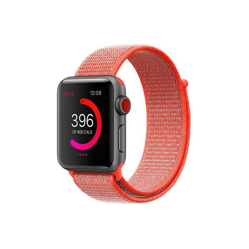 Remienok na Apple Watch 42/44mm látkový Spicy Orange