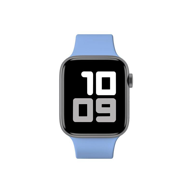 Remienok na Apple Watch 42mm/44mm S/M silikónový Pastelovo modrý