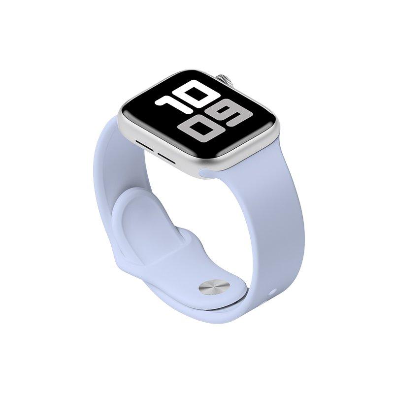 Remienok na Apple Watch 38mm/40mm M/L silikónový Bledomodrý