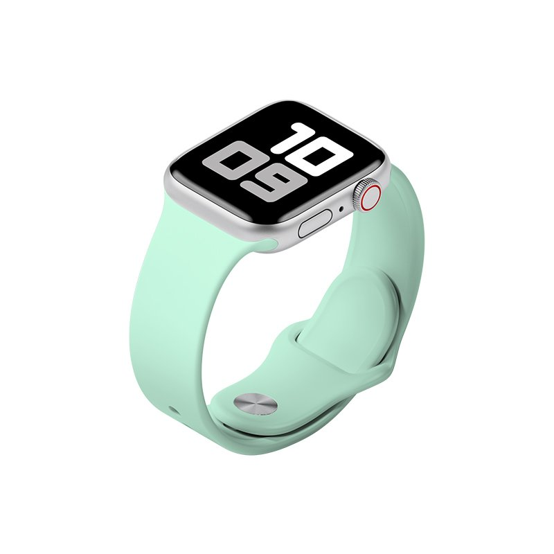 Remienok na Apple Watch 42mm/44mm M/L silikónový Pastelovo tyrkysový
