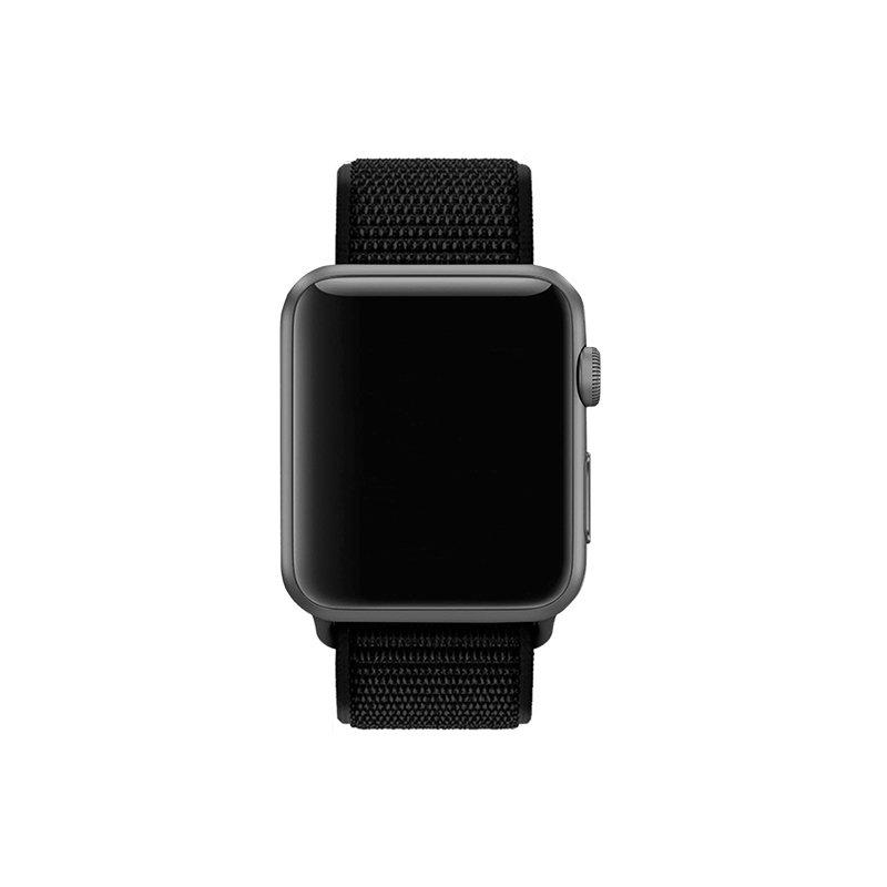 Remienok na Apple Watch 38mm/40mm látkový Ultra Black