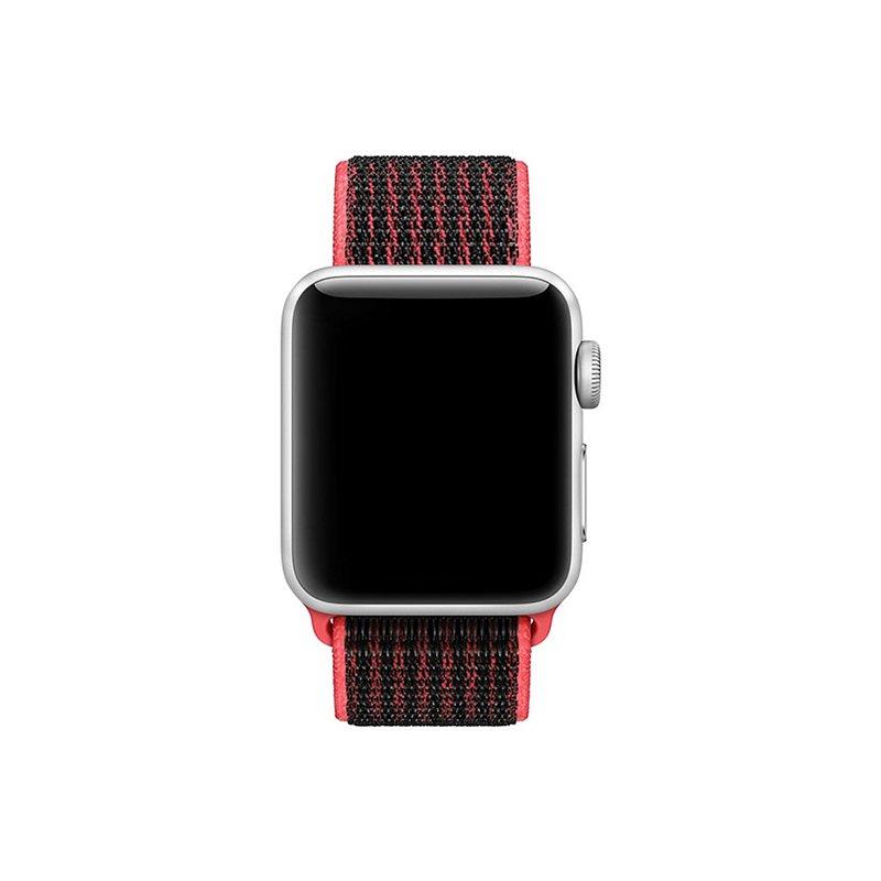 Remienok na Apple Watch 42mm/44mm látkový Black Pink