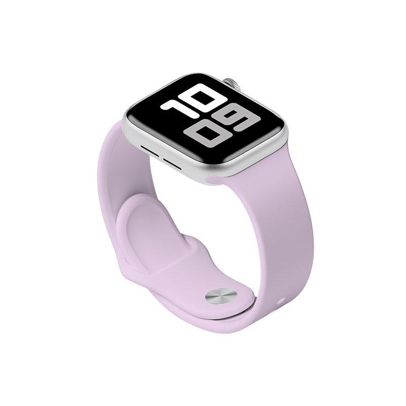 Remienok na Apple Watch 38mm/40mm M/L silikónový Lavender
