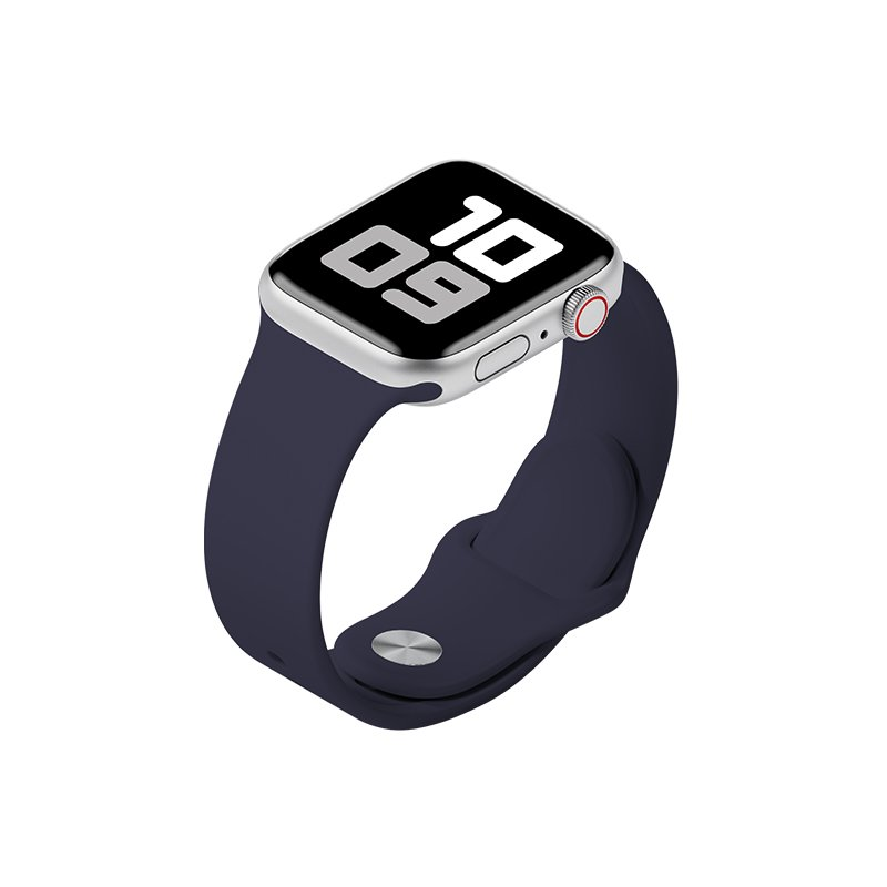 Remienok na Apple Watch 38mm/40mm S/M silikónový Navy Blue