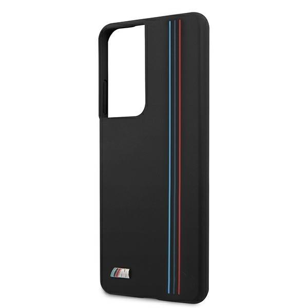 BMW silikónový kryt na Samsung Galaxy S21 Ultra Black With Stripes