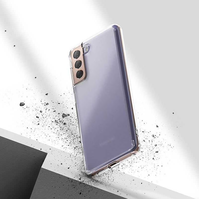 Fussion Matte kryt na Samsung Galaxy S21 Plus Transparent