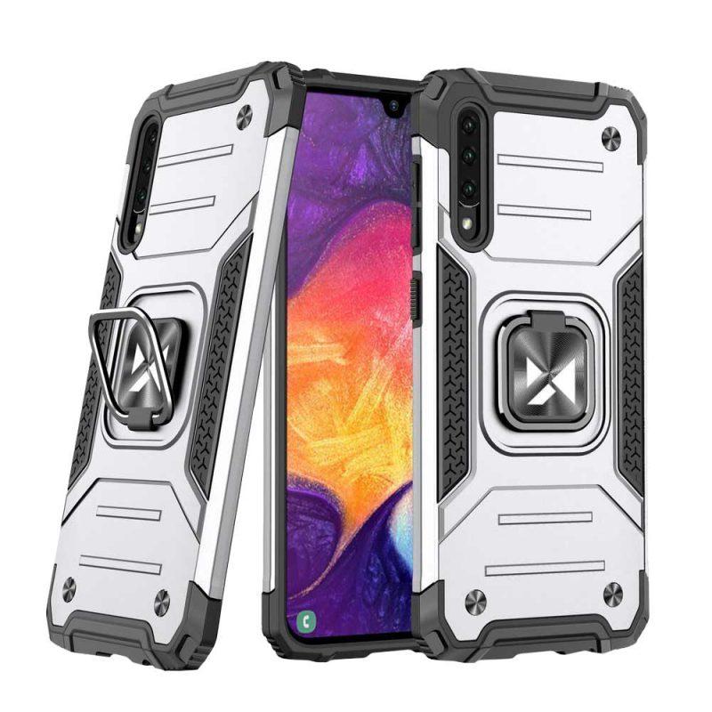 Ring Armor kryt na Samsung Galaxy A50 White