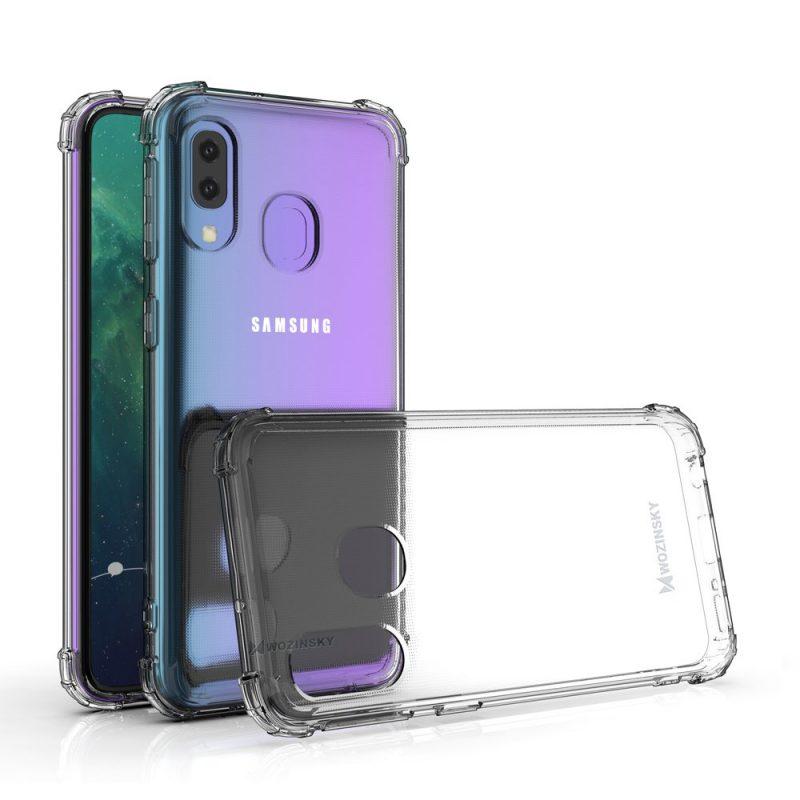 Anti Shock kryt na Samsung Galaxy A40 Priehľadný