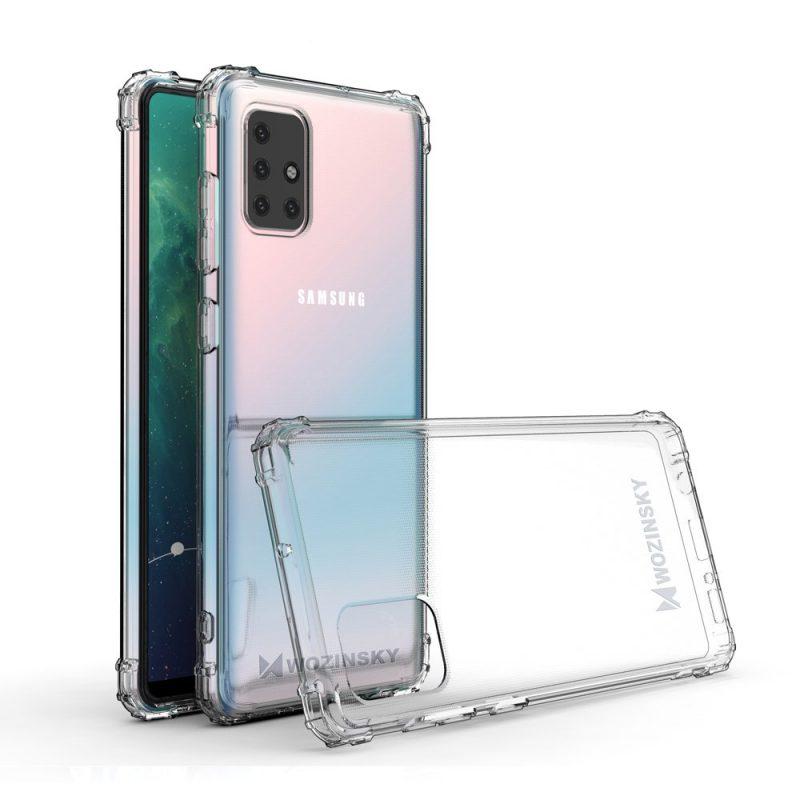 Anti Shock kryt na Samsung Galaxy M31s Transparent