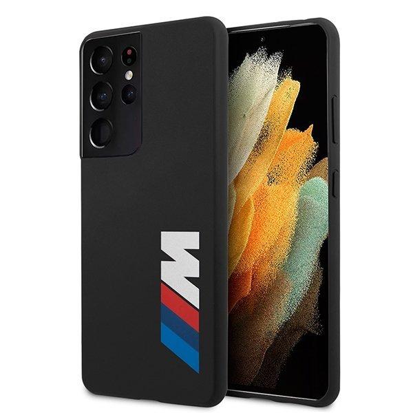 BMW silikónový kryt na Samsung Galaxy S21 Ultra Čierny
