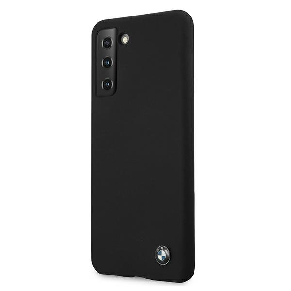 BMW silikónový kryt na Samsung Galaxy S21 Plus Black Hard Case