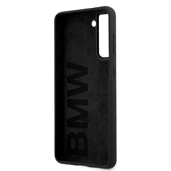 BMW silikónový kryt na Samsung Galaxy S21 Plus Black Big Logo