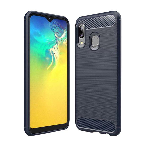 Carbon kryt na Samsung Galaxy A20e Modrý