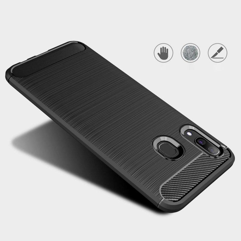 Carbon kryt na Samsung Galaxy A40 Čierny