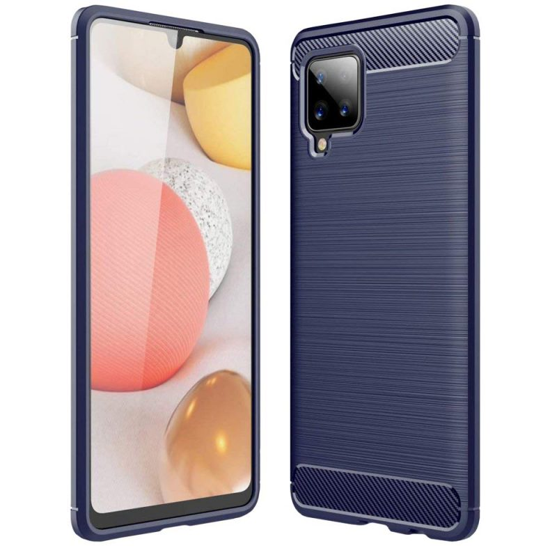 Carbon kryt na Samsung Galaxy A42 Modrý