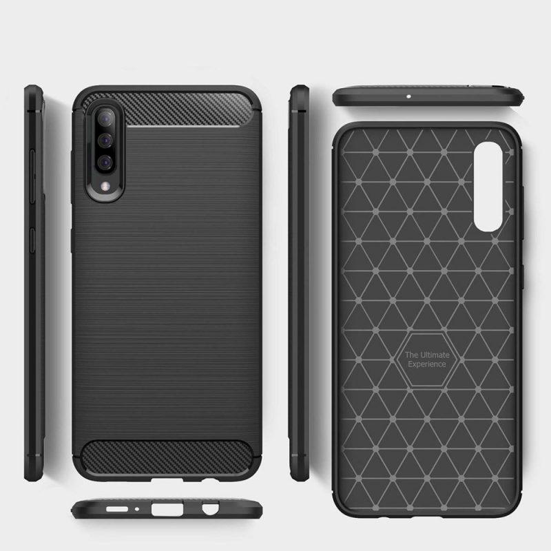 Carbon kryt na Samsung Galaxy A50 Čierny