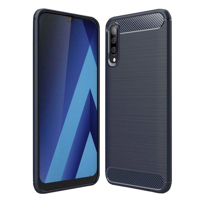 Carbon kryt na Samsung Galaxy A50 Modry